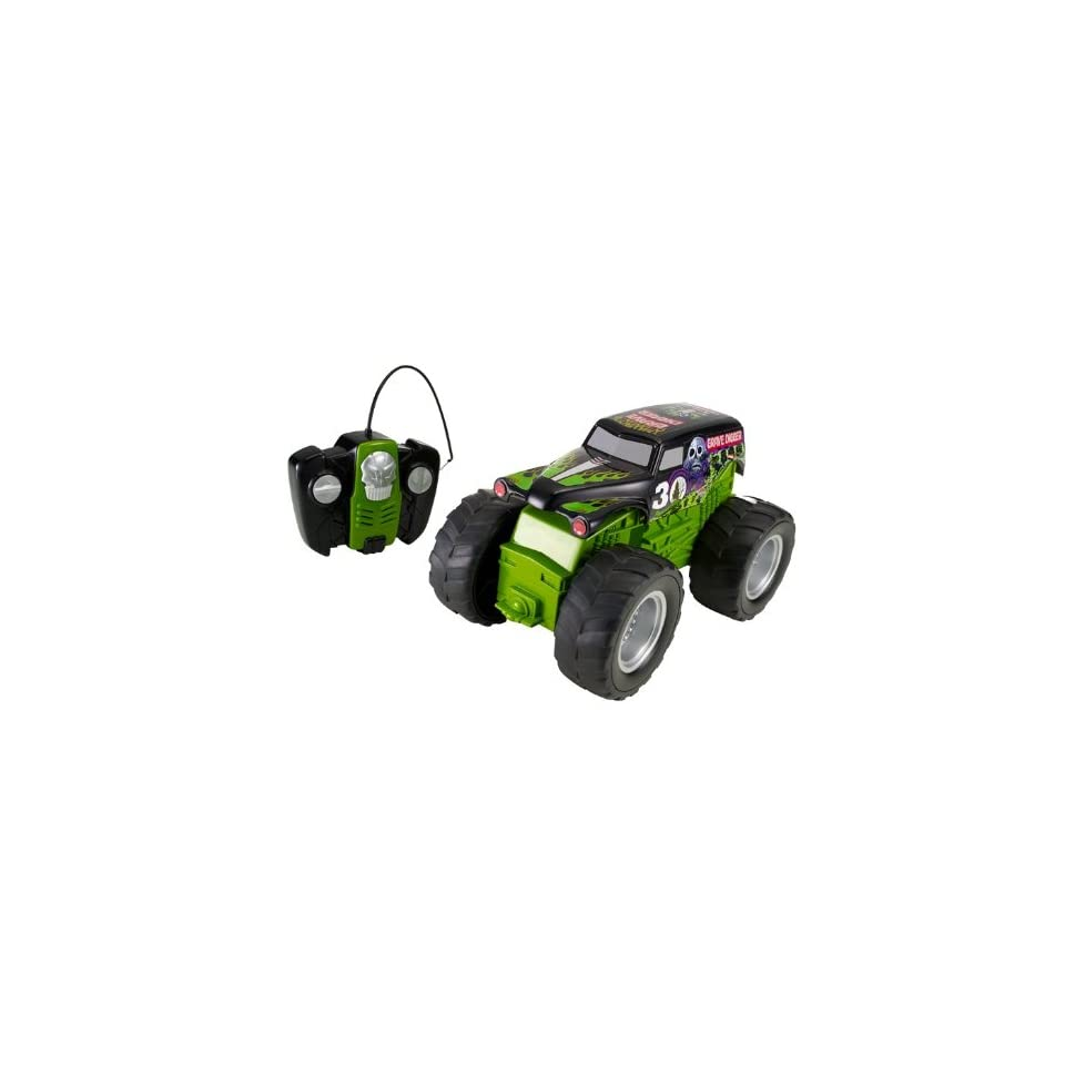 Hot Wheels RC Monster Jam Grave Digger Vehicle, Battery Operated