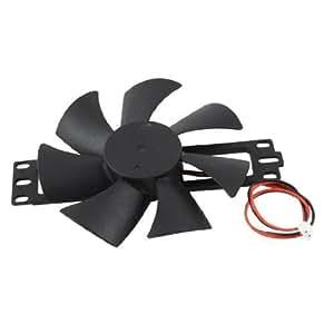 DV 18V Plastic Blade Cooling Fan for Induction Cooker Black