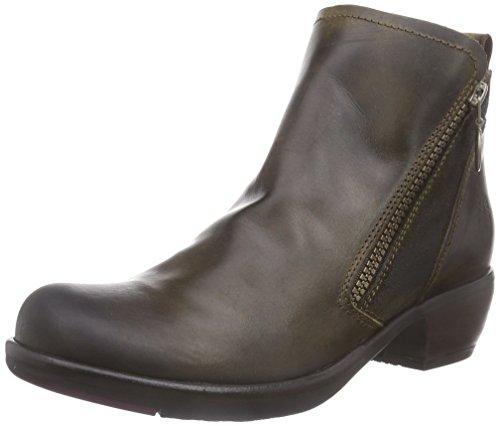 FLY LondonMELI - botas de caño bajo Mujer, Marrone (olive 003), 40
