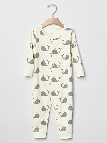 Gap Baby Organic Whale One Piece Size 0-3 M front-891559