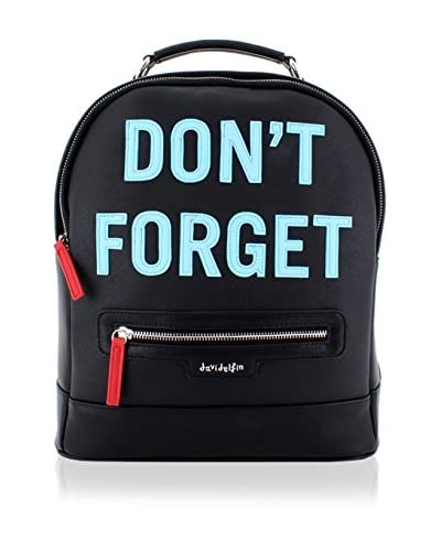 davidelfin Zaino Don'T Backpack Nero/Blu