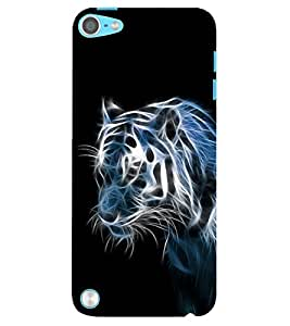 Evaluze white tiger Printed Back Case Cover for APPLE IPOD TOUCH 5