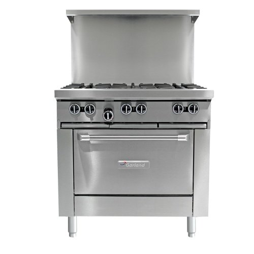 "Natural Gas Garland G36-6C 6 Burner 36"" Gas Range With Convection Oven"
