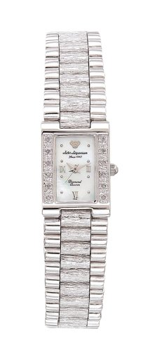 Buy Jules Jurgensen Women's Silver-Tone Diamond Accented Dress Watch #7885W