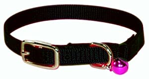 Hamilton 800 BK Safety Cat Collar with Bell, Black, 3/8-Inch Wide x 10-Inch Long