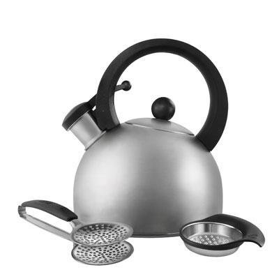 Copco Escort 1.3 Quart Brushed Stainless Steel Teakettle
