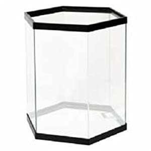 All glass aquarium aag50007 pine hexagon aquarium stand for Hexagon fish tank with stand