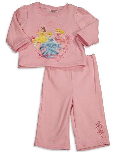 Disney Princess - Baby Girls 2 Piece Disney Princesses Fleece Pant Set, Pink 30180-24Months front-102293