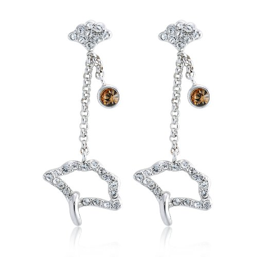 Mellow Swarovski Crystal Earrings - Gold