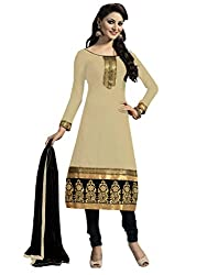 Nilkanth Enterprise Beige Dress Material