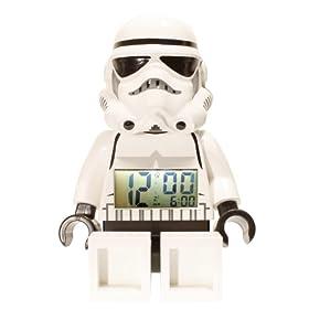 LEGO Unisex 9002137 Star Wars Storm Trooper Mini-Figure Alarm Clock: Watches