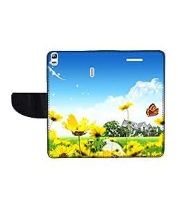 KolorEdge Printed Flip Cover For Lenovo A7000 Multicolor - (55KeMLogo10143LenovoA7000)