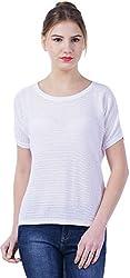TSAVO Women's Regular Fit Top (1544_WHITE, White, Small)