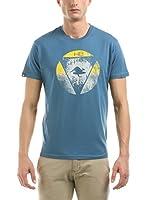 Hot Buttered Camiseta Manga Corta America (Azul Claro)