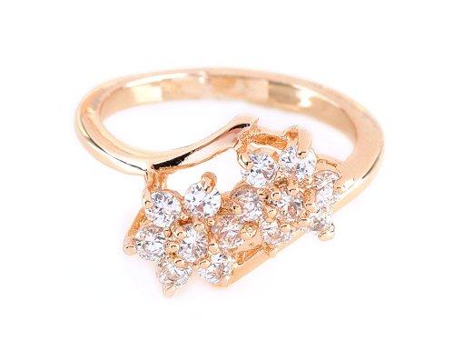 Wedding Engagement Zircon Inlay Crystal Jewellery Ring Size 7