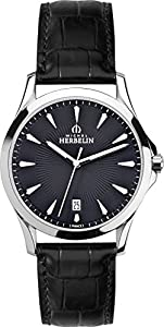 12213/14 Michel Herbelin Gents Quartz Stainless Steel watch on leather strap