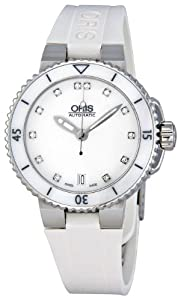 Oris Women's 01 733 7652 4191 07 4 18 31 Divers Date White Dial Watch