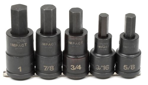 Armstrong 21-899 5 Piece 3/4-Inch Drive Hex Bit Impact Socket Set