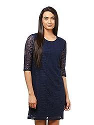 Mayra Women's Net Dress (1604D19313_M Navy Blue )