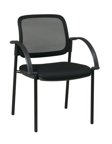 Office Star Visitor?s Chair with Screen Back, Mesh Seat, and