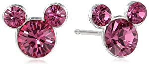 "Disney ""Mickey"" Crystal Birthstone Studs by Disney"