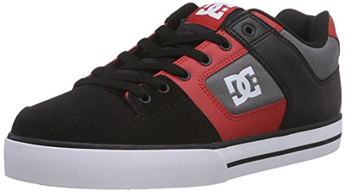 DC Shoes PURE M, Low-Top Sneaker uomo, Multicolore (Mehrfarbig (Black/Athletic Red BAT)), 40