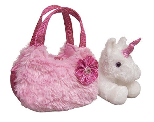 Aurora World Fancy Pals Plush Pink Pet Carrier - 1