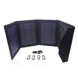 Solar charger panel, 2 Prot USB Solar Charger PowerPort 15w 6V 3 Panel iPhone 6/6 Plus, iPad Air 2/mini 3, Galaxy S6/S6 Edge and More(Intelligent Identification, Lightweight, Foldable, Waterproof)