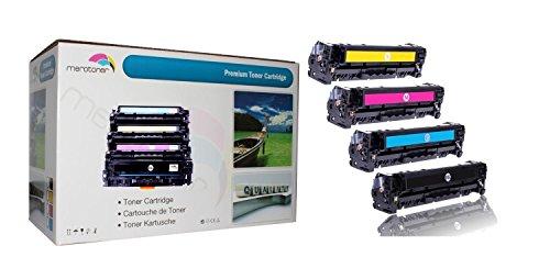 4 x Toner für ersetzt HP Color LaserJet CE320A-CE323A, 128A HP CLJ CP1525, CP-1525n/nw, CM1415, CM-1415fn/fnw, CM1415, CM-1415MFP