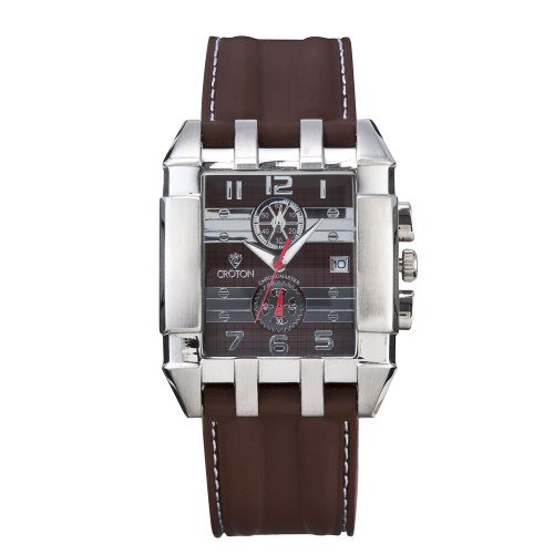 Men's Croton Stainless Steal Watch With Chocolate Brown Dial