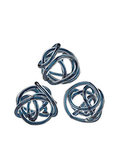 Artistic Glass Knot, Navy Blue