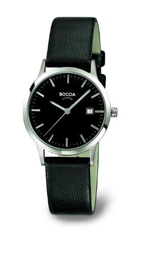 Boccia Ladies Titanium Leather Strap Watch B3180-02