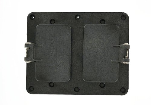Leviton 3251W-E 2-Gang Gfci / Decora Receptacle Coverplate, Weather-Resistant Flip Lid, Black
