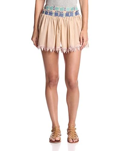 Raga Women's Embroidered Waist Short Skirt
