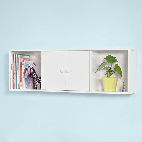 SoBuy® Wandschrank, Hängeschrank, Badezimmerschrank, Wandgarderobe,Bücherregal,FRG99-W