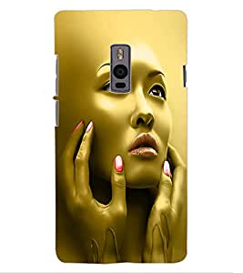 ColourCraft Face Design Back Case Cover for ONEPLUS TWO
