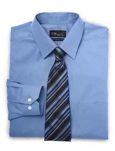 Gold Series Big & Tall Wrinkle-Free Cool & Dry Solid Dress Shirt (Cool Amp compare prices)