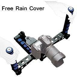 DSLR Rig Shoulder Mount Movie Kit for DV Cameras & For Nikon D1, D2, D3, D3S, D3X, D4, D4S, D40, D50, D60, D70S, D80, D90, D700, D300, D300S, D610, D700, D800, D800E, D600, D7000, D7100, D90, D5100, D5200, D5000, D3100, D3200, D3000, D3300, FM10, F100 and