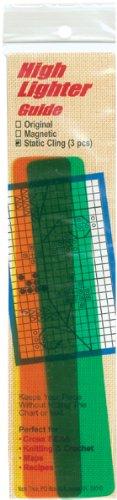 Static Cling High Lighter Guide -6 Inch X1 Inch 3/Pkg
