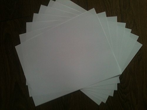 Now Ink Ltd 20 fogli di carta fotografica A4 resina PREMIUM rivestiti lustro. 260g di spessore. Un lato ha una finitura lucida per foto, ecc, dall'altro lato del piano. Una pagina STAMPA