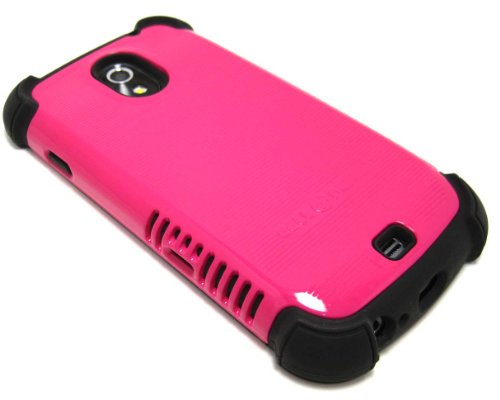 Cell-Nerds Nerdshield Grip Case Cover For The Samsung Galaxy Nexus Sprint (Sph-L700) Or Verizon (Sch-I515) (Pink On Black)