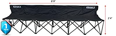 EZ Sportz 6 Seat Sports Bench | Great For Soccer, Camping, The Beach and More| Extra Large Durable Size | Comfortable Chairs for Six People