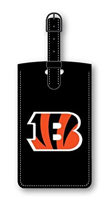 Cincinnati Bengals Leatherette Luggage Tag