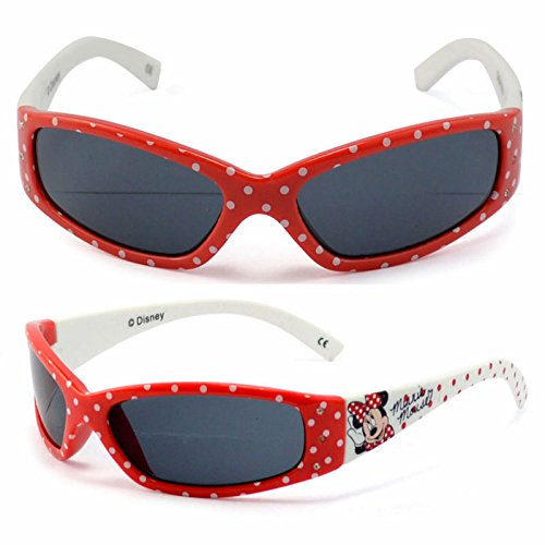 Childrens Kids Girls Stylish Spotty Red Sunglasses with mouse print on them Style UV400 Sunglasses in Red and...