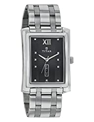 Titan Black Dial Men's Analog Watch - 90023SM01