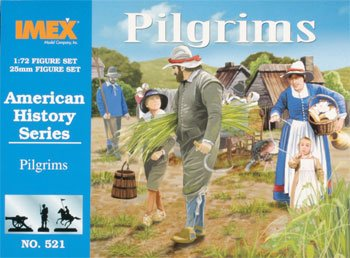 Pilgrims 43 Figures 3 Each Turkeys & Goats 1/72 Imex - 1