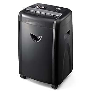 サンワダイレクト 電動シュレッダー 業務用 A4 12枚同時細断 CD DVD カード 対応 ミニクロスカット 400-PSD017