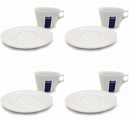 4 X Lavazza Cappuccino / Café / Americano / Coupes Porcelaine et soucoupes des capacités cc 300, hauteur 78 mm