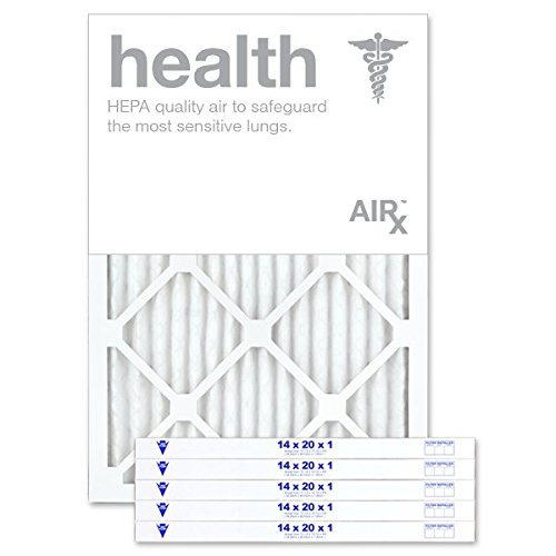 AiRx HEALTH 14x20x1 Air Filters - Optimal for Health Protection - Box of 6 - Pleated 14x20x1 MERV 11 Air Filters, AC Filters, Furnace Filter - Energy Efficient