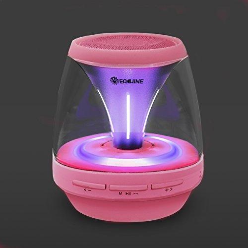 Eachine Portable Bluetooth Speaker Led Lights Fm Radio(Pink)★Black Friday Deals Ends On Nov. 30★